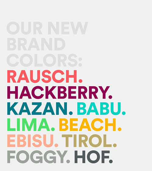 Airbnb brand colors