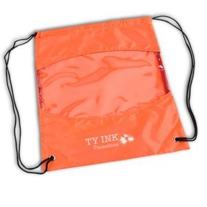clear view drawstring bags