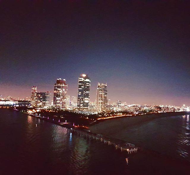 South Beach by night #miami #cruise #crew #sailing #travel #traveling #traveler #instatravel #instago #instagood #trip #photooftheday #instapassport #instatraveling #mytravelgram #travelgram #travelingram #igtravel #instalife #travelblog #sea