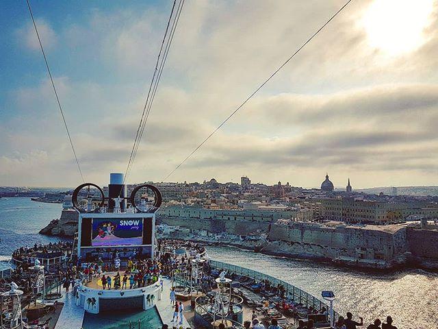 Sailing away from Malta when the sun going down #valletta #msccruises #mscseaview #cruising #cruise #crew #sailing #travel #traveling #traveler #instatravel #instago #instagood #trip #photooftheday #instapassport #instatraveling #mytravelgram #travelgram #travelingram #igtravel #instalife #travelblog #sea #travelstoke