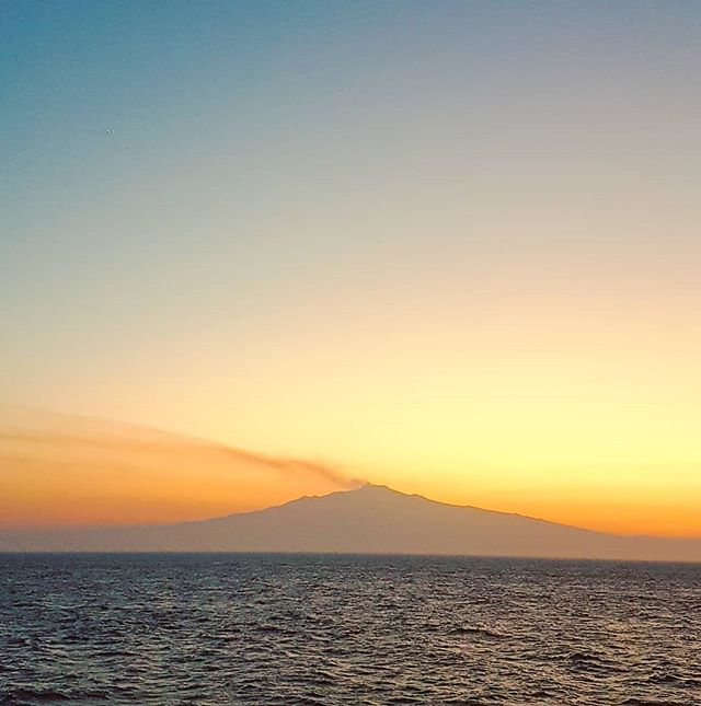 The Etna at sunset #volcano #sicily #cruising #cruise #crew #sailing #travel #traveling #traveler #instatravel #instago #instagood #trip #photooftheday #instapassport #instatraveling #mytravelgram #travelgram #travelingram #igtravel #instalife #travelblog #sea #travelstoke