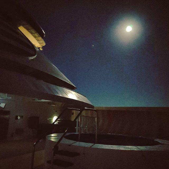 Full moon in a silent summer night over the mediterranean sea  #metalbeach #pool #cruising #cruise #crew #sailing #travel #traveling #traveler #instatravel #instago #instagood #trip #photooftheday #instapassport #instatraveling #mytravelgram #travelgram #travelingram #igtravel #instalife #travelblog #sea #travelstoke