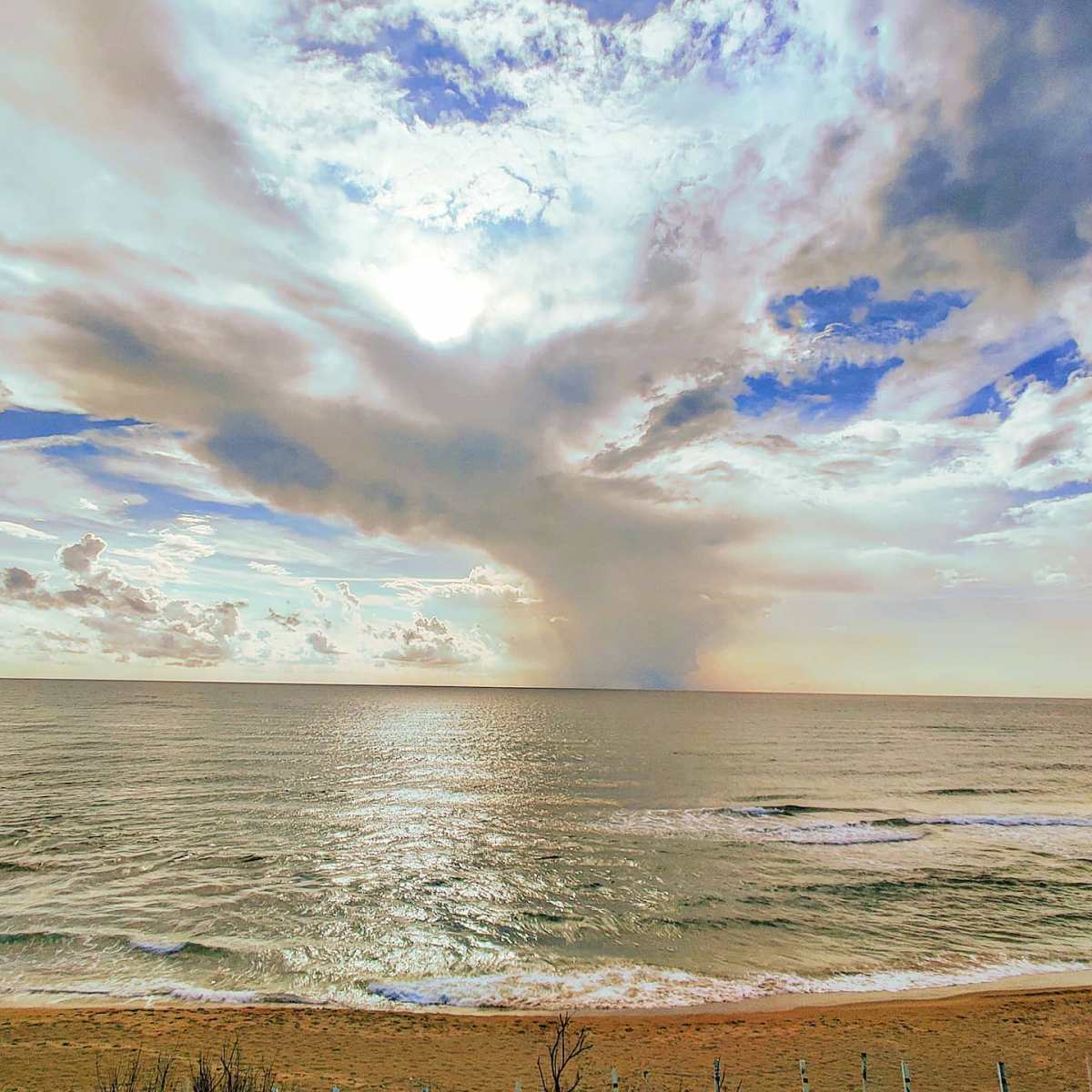 Just before the storm 🌬️🌤️#sabaudia #spiaggia #nuvole #sand #sealife #blue #sea #traveller #travellife #travelgram #traveler #beach #reflection #wind #cloudscape #travelphotography #seaview #seaside #travelholic #travelstoke #travel #beachlife #traveling #travelphoto #clouds