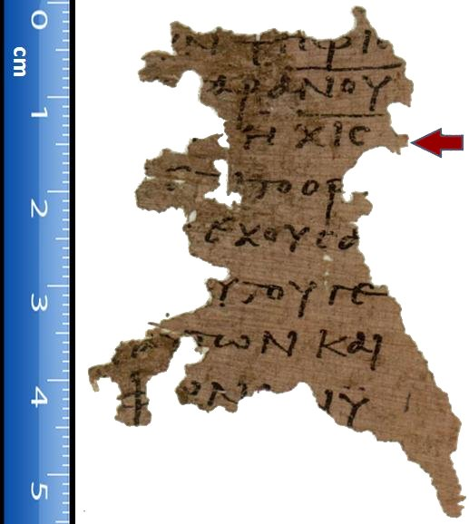 Papyri 115 one the most ancient examples of John's Apocalypse