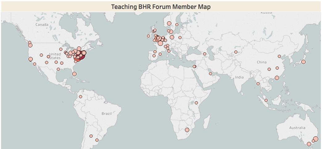 Teaching BHR Member Map.1