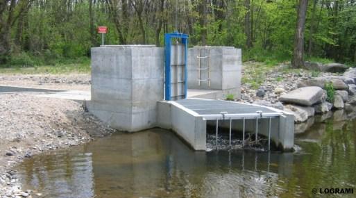 Local de comptage implanté au barrage de la Langeac
