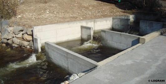 Passe à bassins successifs du barrage de Langeac réhabilitée en 2012