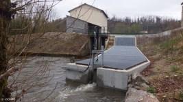 Entrée de la passe à poissons de la micro-centrale hydro-électrique de Moulin Breland