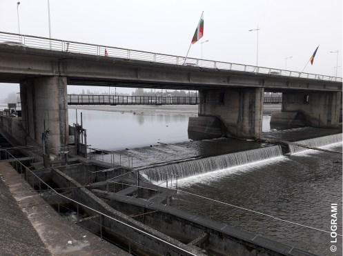 Barrage de Vichy suite à la vidange du plan d'eau