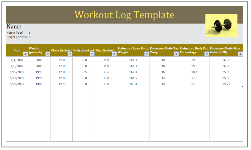 work out logs