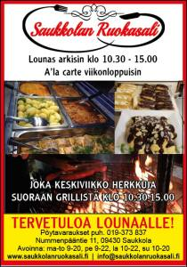 Tervetuloa Saukkolaan lounaalle