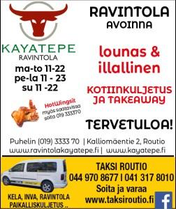 Ruoat kotiinkuljetuksella Kayatepesta
