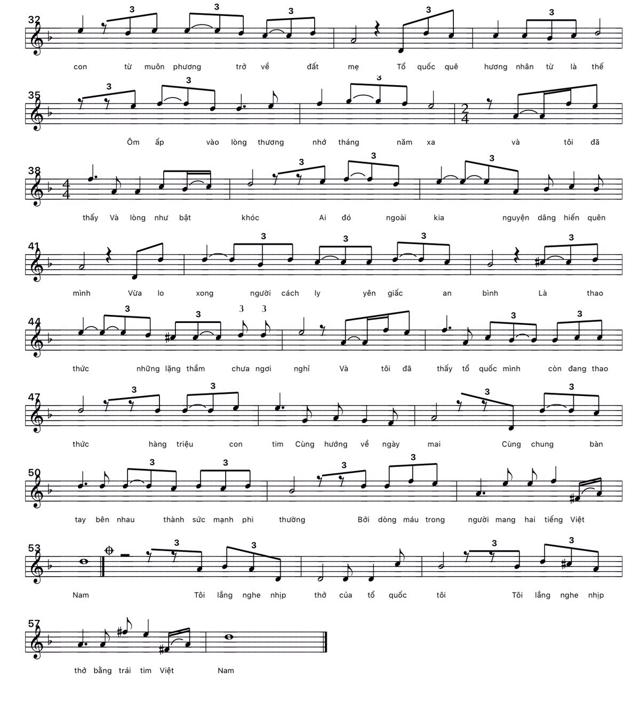 Lời bài hát Lắng Nghe Nhịp Đập Tổ Quốc của ca sĩ Nguyễn Phi từ bài thơ Dòng máu Việt Nam