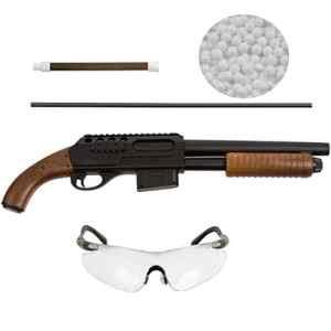 Carabine à air comprimé avec système Hop Up inférieur à 0,5 Joule, lunettes de protection et munition de calibre 6 mm BB airsoft