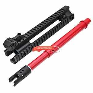 E&C MK110 10″ RAS RIS Garde-main Front Set avec Canon externe Kit pour M4 M16 M4A1 Airsoft AEG (Rouge) – AirsoftGoGo AirsoftGoGo Porte-clés Inclus