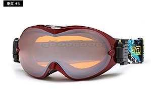 Ryadia (TM) Polisi Hiver Ski Snow Lunettes UV400Big sphérique antibuée Masque de snowboard Homme Femme Montagne Ski Esqui Sport Eyewear, Purple Red 03