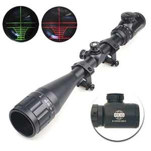 Spike 6-24×50 AOEG Lunettes de visée Portée Rifle Illuminated Red Dot vert Scope Réticule Airsoft Gun Rifle Holographic Optical Sight Chasse