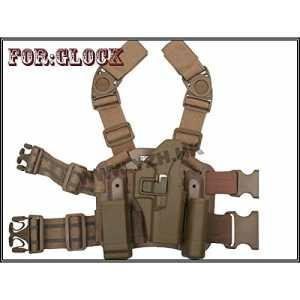 Emerson France Holster / Etui De Cuisse Type CQC Pour Glock 17 / 18 (G17 / G18) Plusieurs Couleurs (Désert)