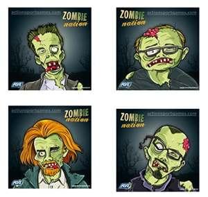Lot 100 Cibles carton 14x14cm airsoft plomb – Zombie Nation