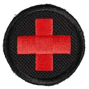 Xhorizon TM MSH Patch tactique infirmier croix avec velcro en arrière appliques badge brodé