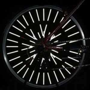 Bheema 12pcs roue bicyclette parlait Réflecteurs monter tube de pince