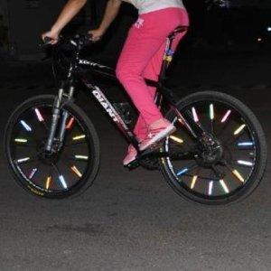 Bheema 12 PCS Bike Bicycle Wheel Spoke Reflector Reflective Mount Clip Tube