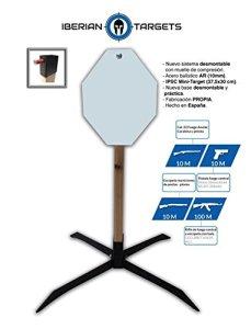 'Diana métallique en acier résistant pour tir. Pack Steel Target «Carte mini-ipsc. Blanc de tir de métal.