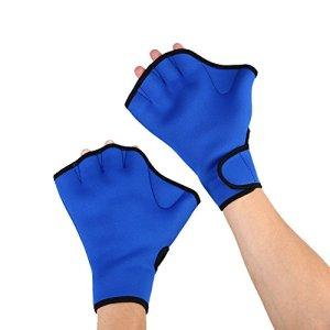 Forfar Swim Gloves Fingerless Hand Webbed 1 Pair Swim Gloves Surfing Diving Swimming Equipment Sports Paddle Training Water Swim Gloves Aquatic Fitness for Training Exercise & Water Aerobics