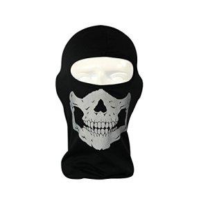 complète Masque Tête de Mort Squelette extérieur Moto Vélo Multi Fonction