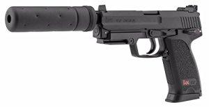 H&K USP TACTICAL AEP NOIR UMAREX SEMI ET FULL AUTO SYSTEME SHOOTUP AVEC SILENCIEUX FACTICE 0.5 JOULE