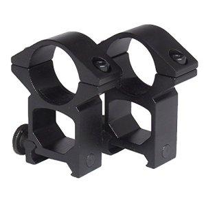 Uniquefire 2pcs 25.4mm 1″ Profil Haut montage lunette visée à 20 mm Picatinny Weaver Rail Mont