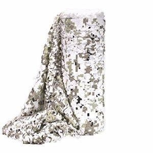 FILET CAMOUFLAGE SNOW DIGITAL BULK FACE BLANCHE A LA COUPE LARGEUR 2.4M X 10 METRES 469268 AIRSOFT