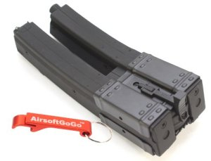 MP5 560 rds Dual Chargeur pour Airsoft Marui Standard AEG MP5K MK5 MP5A3 MP5A4 MP5A5 (Long) C37 [pour Airsoft uniquement]