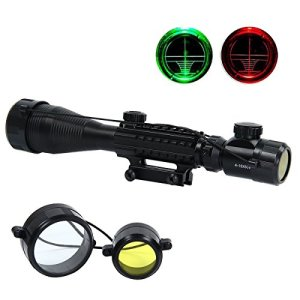 Latinaric 4-16X50EG Tactique Rifle Scope Rouge/Vert Illuminé Lunette De Visée