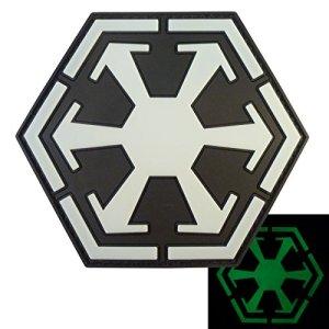 Star Wars Sith Empire Logo Old Republic PVC Gomme 3D Fastener Écusson Patch