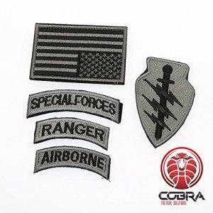 Patch militaire kit de Forces Spéciales Rangers Aérien drapeau USA Bronze et Velcro