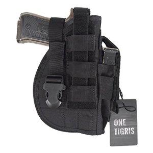 OneTigris L'étui à Pistolet Holster Molle Tactique De Glock 1911 45 92 96 Avec Porte-Chargeur Pour Airsoft Chasse (Noir)