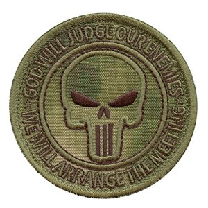 God Will Judge Our Enemies A-TACS FG US Marine Navy Seals DEVGRU JSOC NSWDG Morale Sew Thermocollant Écusson Patch