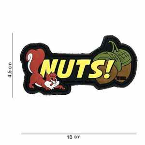 Patch 3D PVC Funny Nuts! Fun / Cosplay / Airsoft / Camouflage