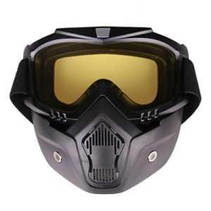 WEIZQ Masque Tactique Lunette Tir Protection Masque de Protection pour Airsoft pour Nerf Rival Masque