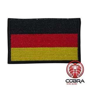 Cobra Tactical Solutions Patch Militaire Écusson Brodé sa lanière Hook & Loop Airsoft/Paintball Drapeau Allemagne Sac à Dos Tactique Vêtements.