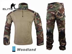 Airsoft Chasse Tactique Militaire BDU Convient G2de Combat Uniforme Chemise Pantalon Woodland