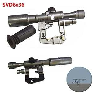 FIRECLUB XWXS Dragunov 6×36 SVD First Focal Plane Sniper Rifle Scope FFP Illuminated Rangefinding Reticle Scope