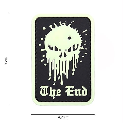 Patch 3D PVC Punisher «The End» Fluorescent / Cosplay / Airsoft / Camouflage