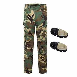 QMFIVE Pantalons Airsoft, Pantalons Tactical Airsoft Homme Pantalons Combustibles BDU Style Militaire