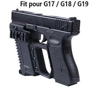 Richlogic Conversion de Carabine pour Glock (G17/G18/G19) -pour Faire Une Carabine (kit de Poignée Avant)
