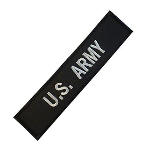 US Armée Name Tape Embroidered Milspec Combat Badge Touch Fastener Écusson Patch