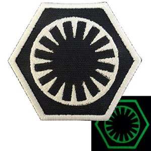 2AFTER1 Glow Dark Star Wars First Order Force Awakens Embroidered Hook-and-Loop Patch