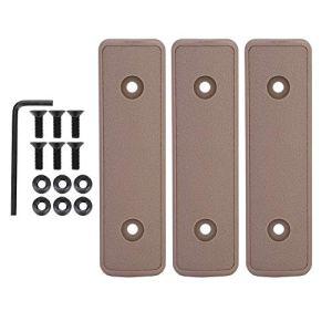 Alomejor 3 PIÈCES Tactique Keymod Picatinny Couvercle De Rail Keymod Couverture de Rail d'échelle en Nylon Protecteur de Main Keymod Weaver et Picatinny Rails(Brown)