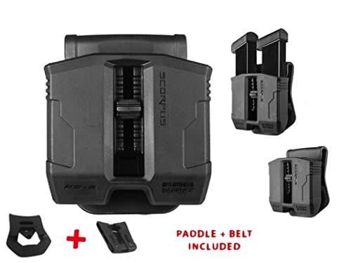 Fab Defence Porte Chargeur PS-9, PS9, porte Chargeur Scorpus Noir universel Cal. 9/40